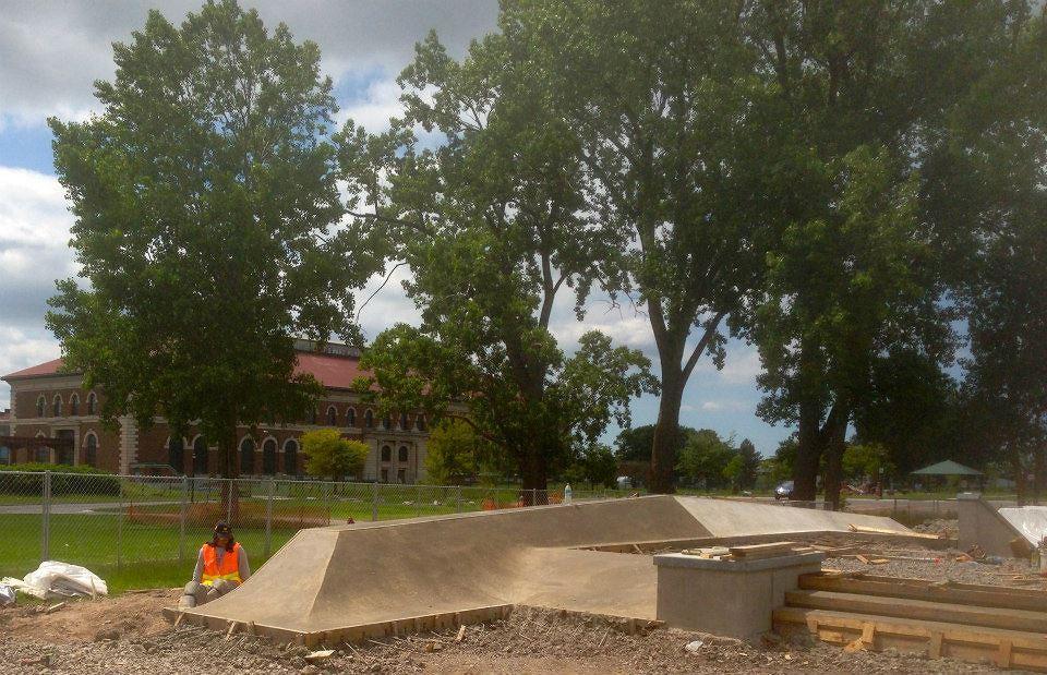 Buffalo, New York Skate Plaza bank construction