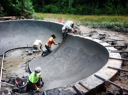 Epworth Skatepark Bowl construction - Rehoboth Beach, Delaware