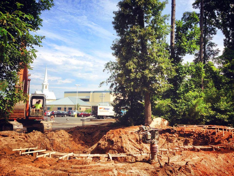 Bowl excavation at Epworth Skatepark - Rehoboth Beach, Delaware