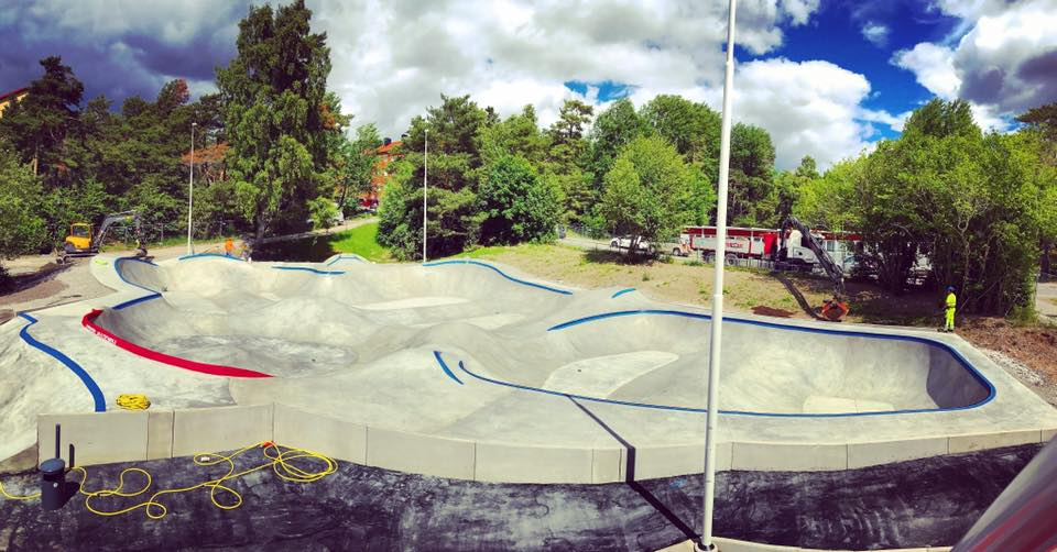 Stockholm, Sweden Skatepark - ready for ripping!