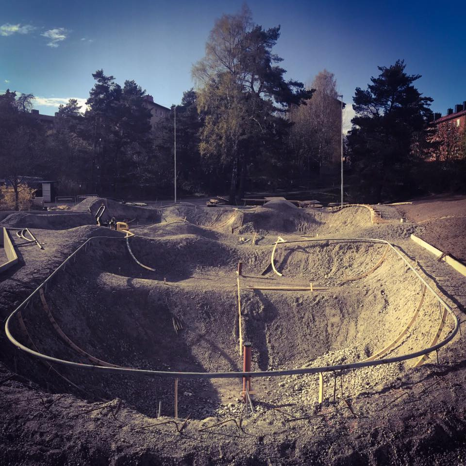 Stockholm, Sweden Skatepark construction
