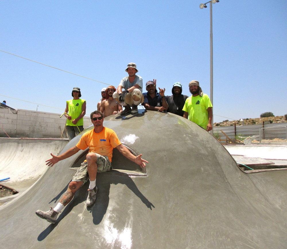 Modi'in, Israel Skatepark crew