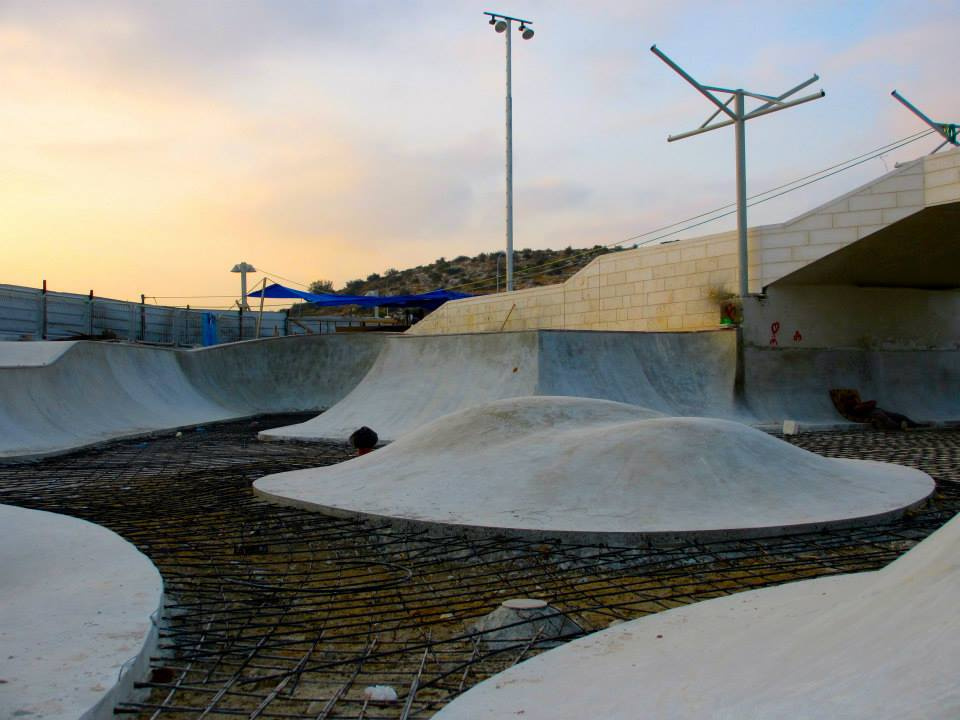 Modi'in, Israel Skatepark takes shape