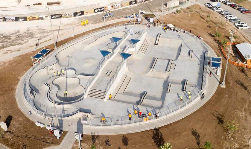 Modi'in, Israel Skatepark from above