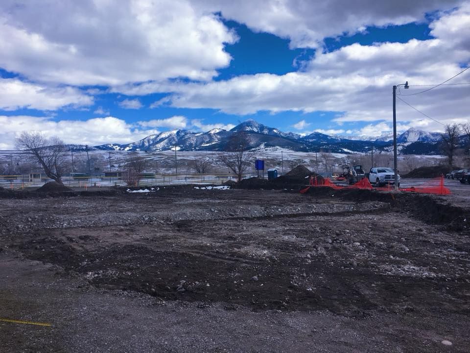 Livingston, Montana skatepark construction