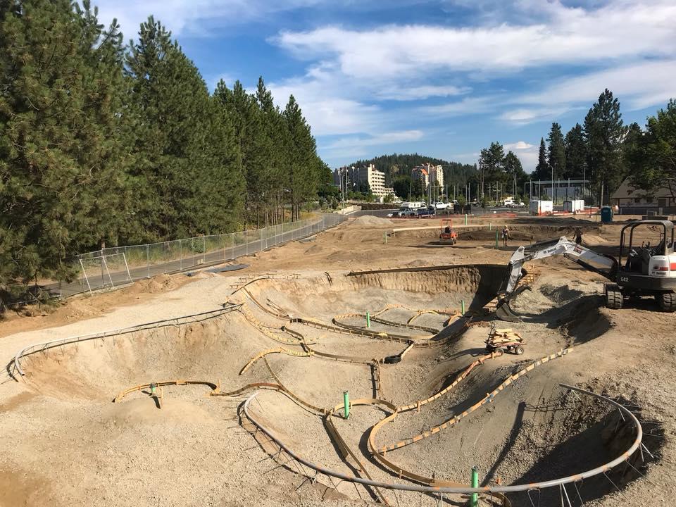 Coeur d'Alene, Idaho Skatepark Construction