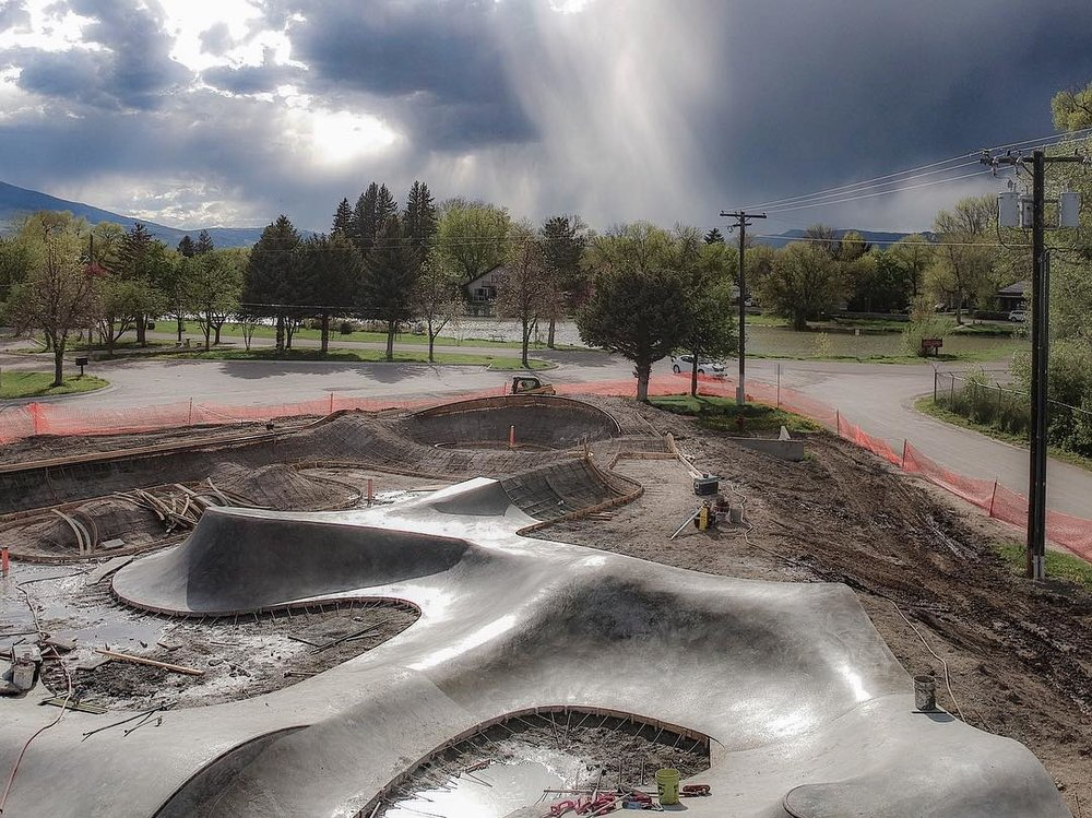 Skate shapes in Livingston, Montana