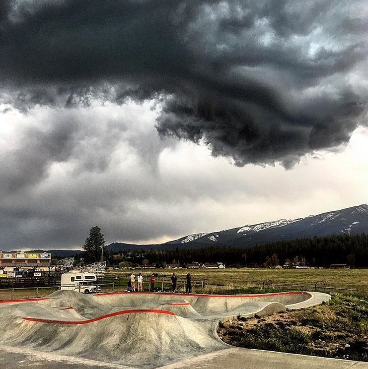 Stormy skies in Darby, Montana