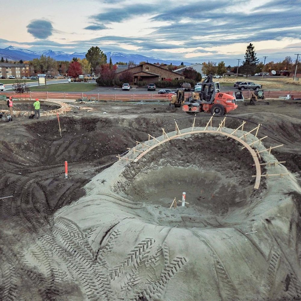 A little glimpse of the new Hamilton, Montana Skatepark 😍😲 Thank you Circle 13