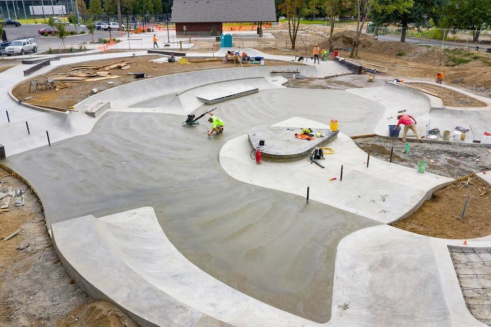 Skate plaza 😎construction in Coeur D'alene, Idaho 💯