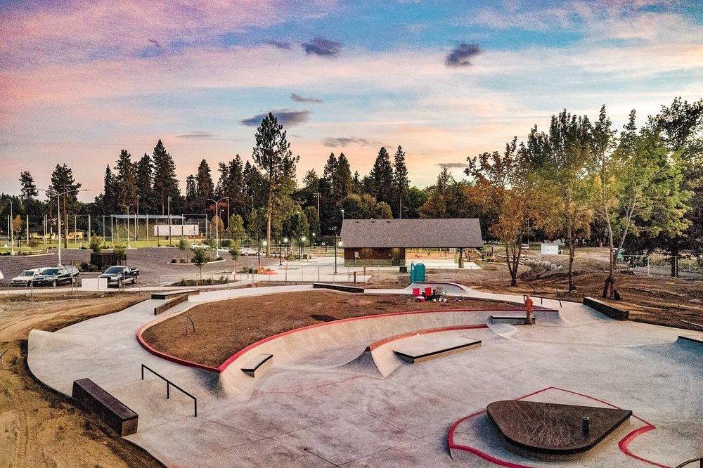 Coeur d'Alene, Idaho Skate Plaza 😎