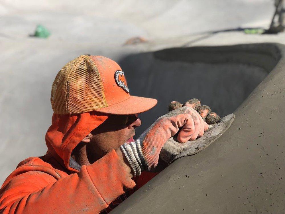 Hand 🖐🏽 poured coping in Frisco, Colorado