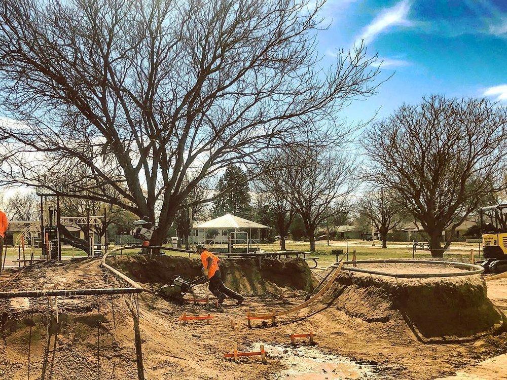 New Idalou, Texas 🤠 skatepark going up