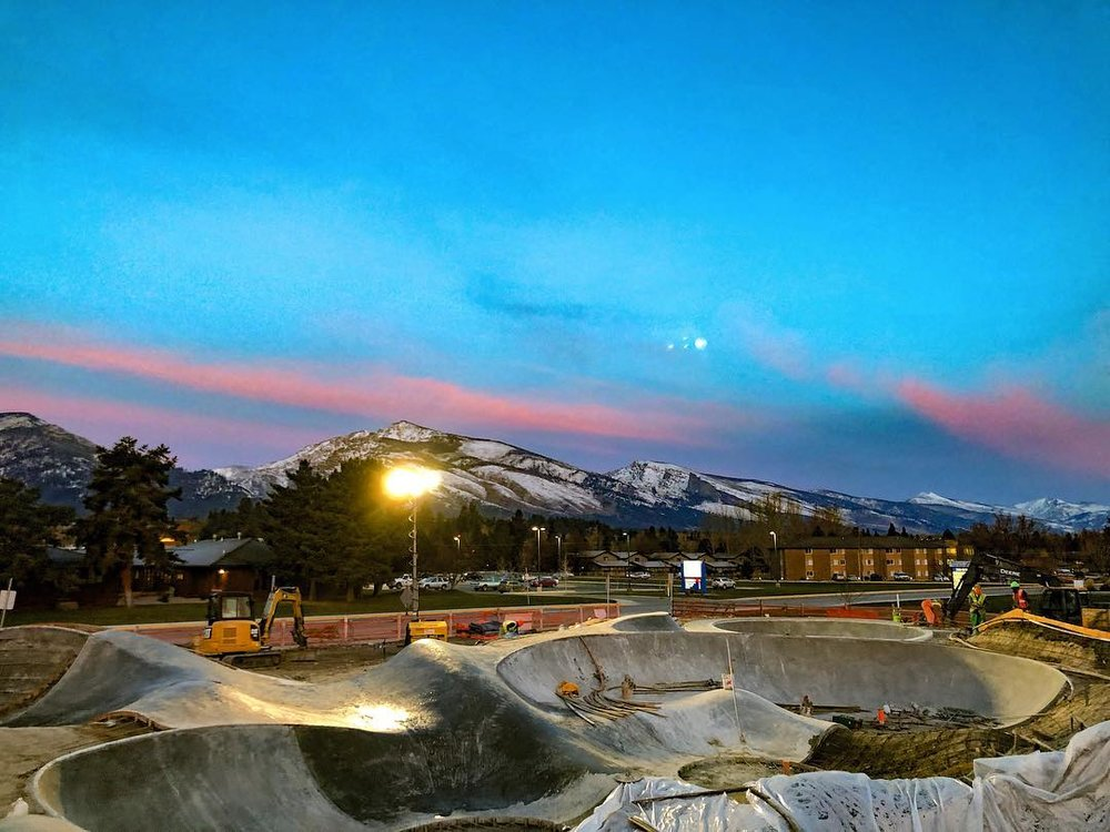 The beautiful Hamilton, Montana skatepark. It may be buried under multiple feet of snow currently but it will be ready & waiting come spring.