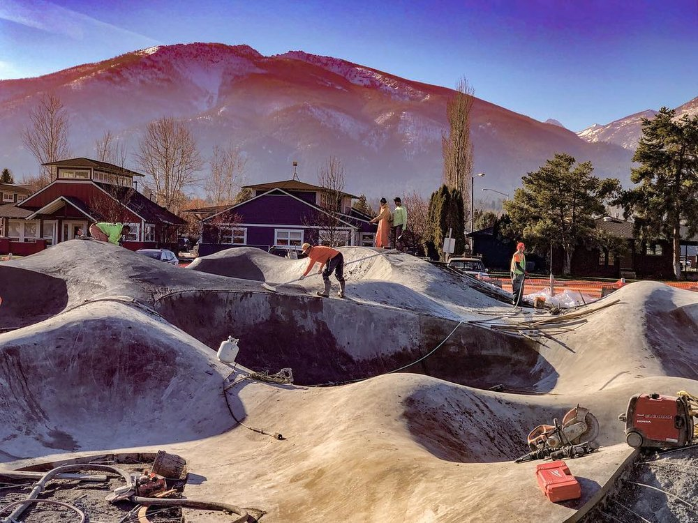 ⚡️Hamilton, Montana ⚡️ skatepark construction