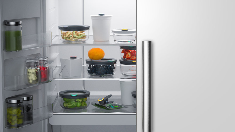 Open your fridge and know exactly what to eat - Anyone who opens your fridge will see the SmartTags glowing green, yellow, or (hopefully not!) red, making family meal planning a breeze.