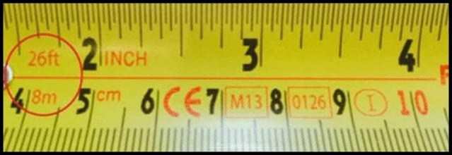 Numeros en cinta métrica