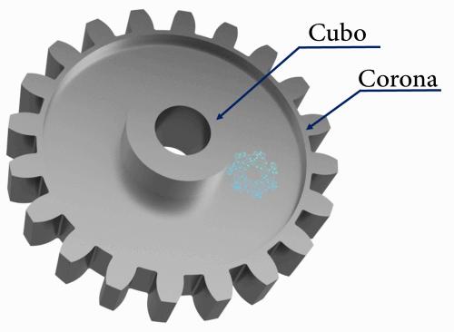 Partes del engrane - Cubo y Corona.