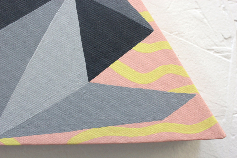 TRIANGULAR PIECES OF MIND  Acrylic on canvas. 2015