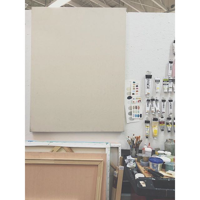 Future something,  from now it's a beautiful stretched raw canvas.  #studio #sanfrancisco #raw #canvas