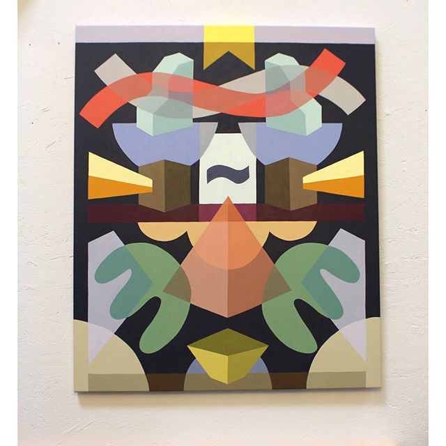 Showing this piece for  first time this month at @startupartfair #losangeles #LA #startupfair #patriciarubioart #artist #sanfrancisco #geometricabstract