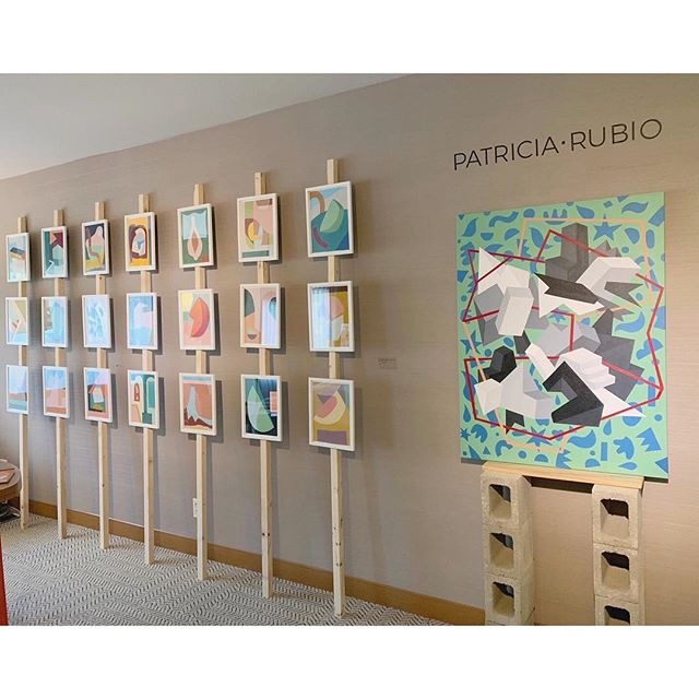 Starting #startupfair today! If you're in LA stop by. #patriciarubioart #sanfranciscoartist #startupfairla #abstract #artweekend