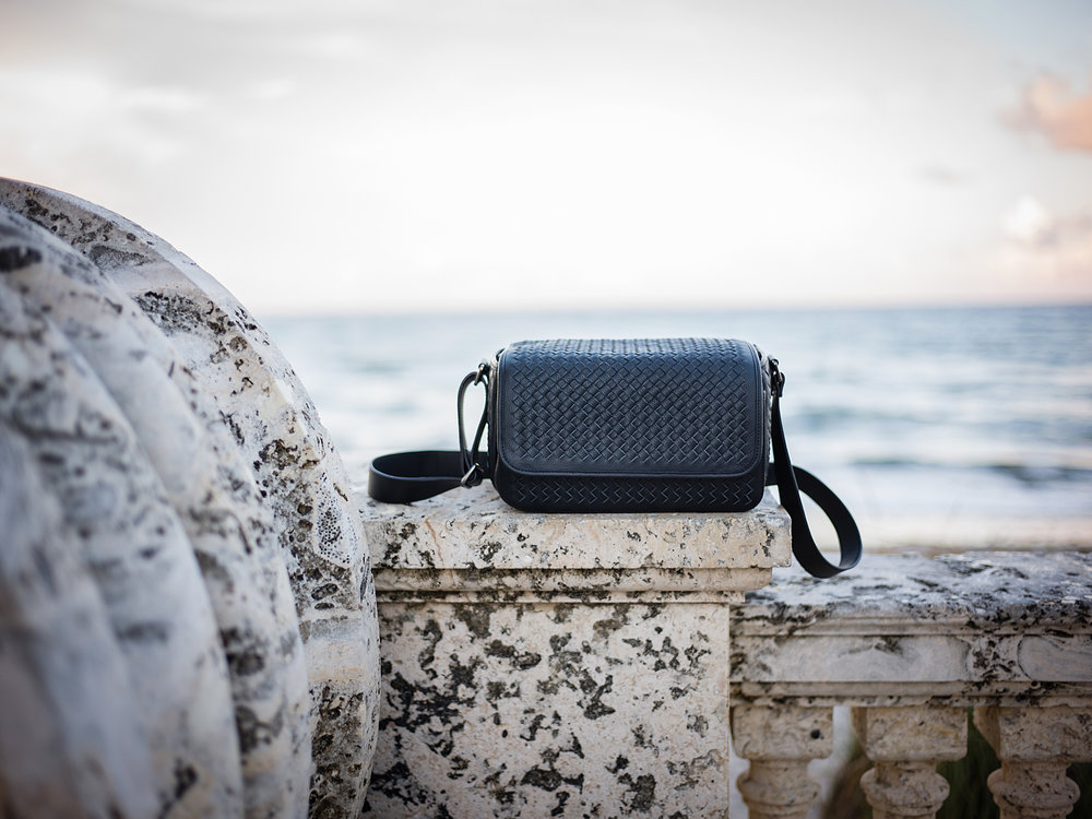 Vi Vante Targa Leather Woven Camera Bag