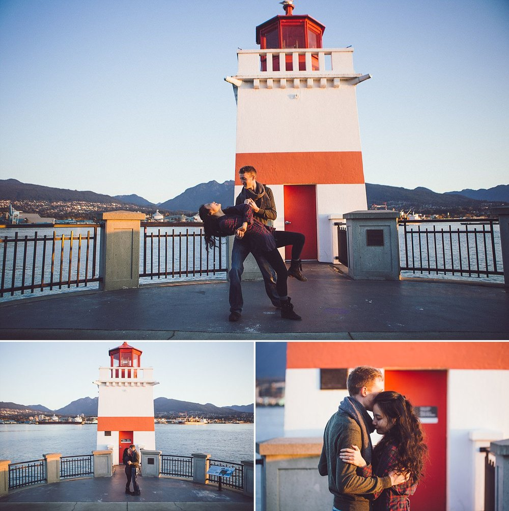 Couple dances at the Brockton Point Lighthouse