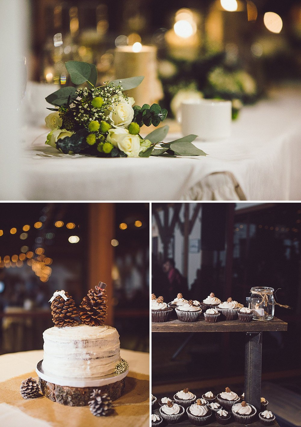 Wedding decor and details at the Diamond Alumni Centre