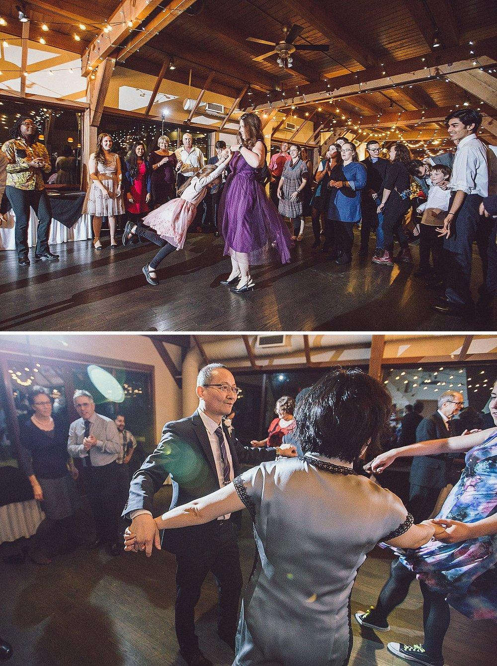 Dancing at the wedding reception