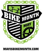 May is Bike Month is a way to encourage people to ride their bikes for work commutes, shopping, errands, and recreation.  www.mayisbikemonth.com