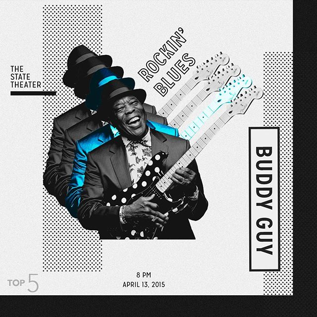 Coming in at number two we have a living guitar legend. Buddy Guy graced Chicago's theaters throughout the 50's and 60's and he's still rippin' em today.