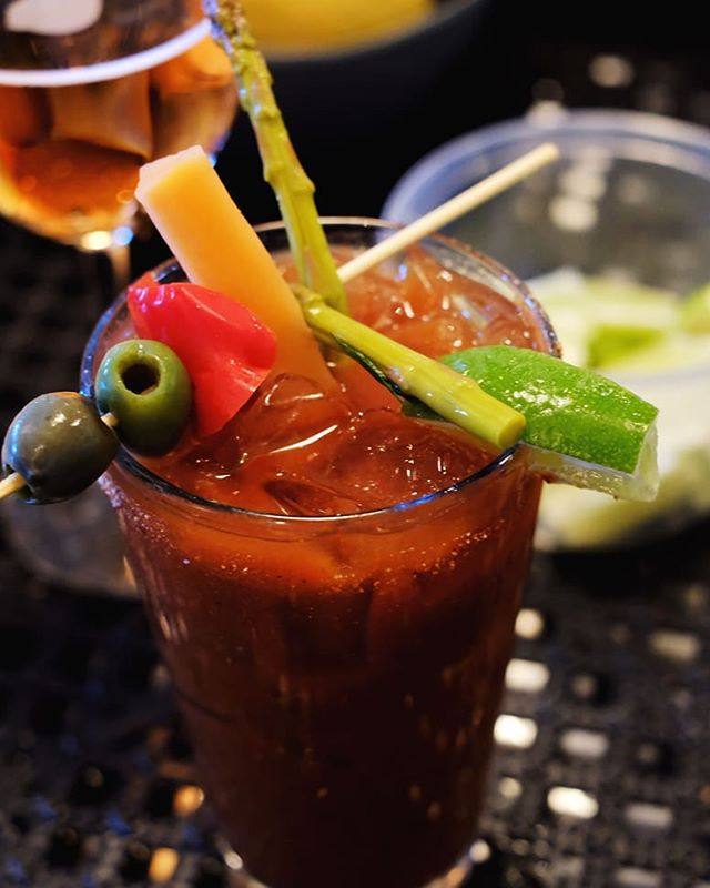 Sunday Bloody Sunday! These pickles are the ultimate set to this spicy Bloody Mary.