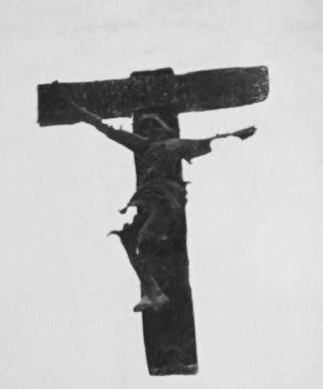 Crucifix pulled from the rubble of a church in Warsaw after World War II