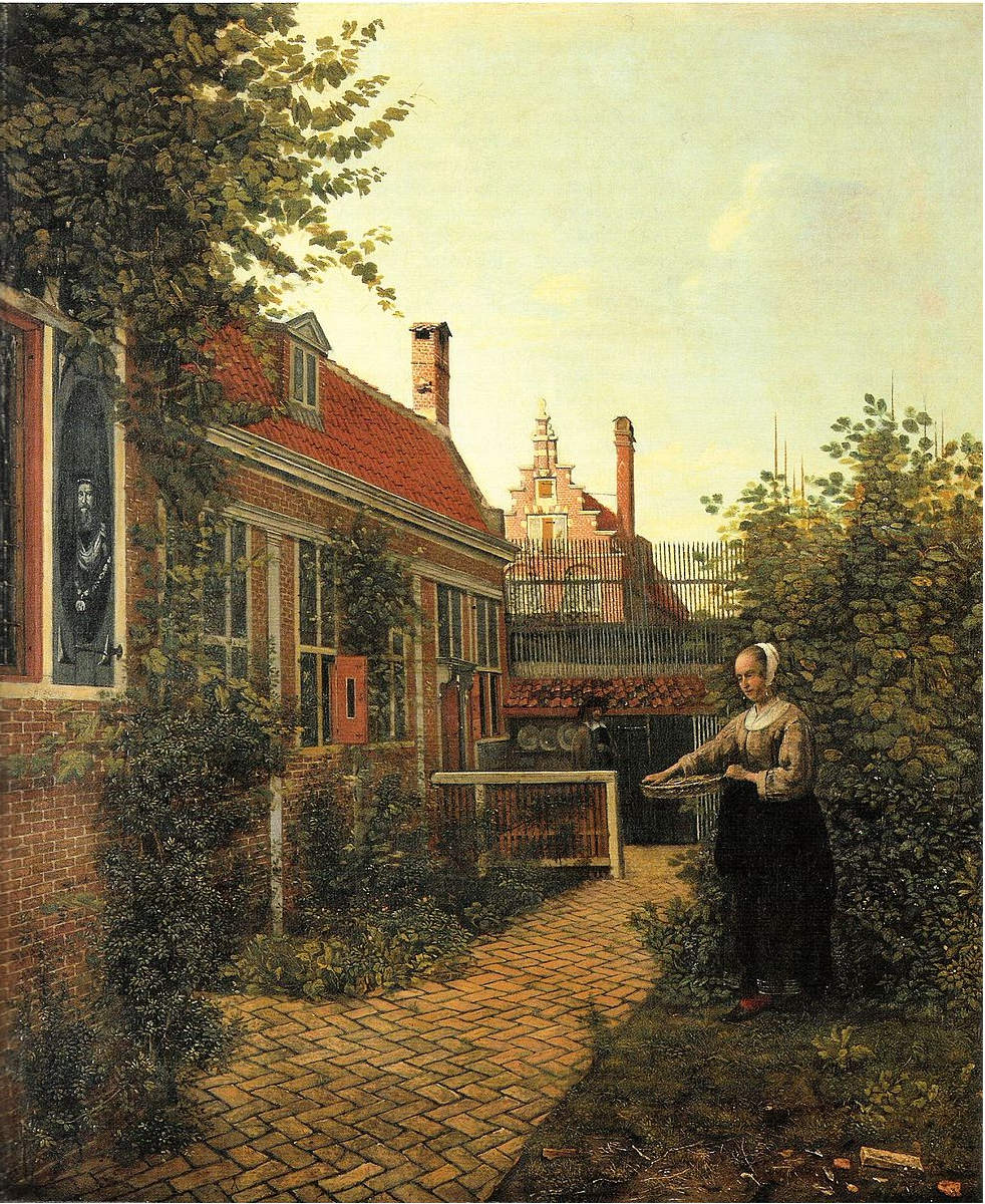 Pieter de Hooch,  The Girl with a Basket in a Garden,  1651 (Wikicommons, Kunstmuseum Basel)