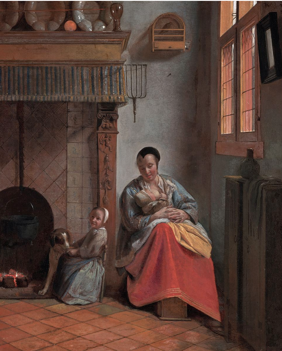 Pietre de Hooch,  Woman Nursing a Child,  1658 (Wikicommons, Fine Arts Museum of San Francisco)