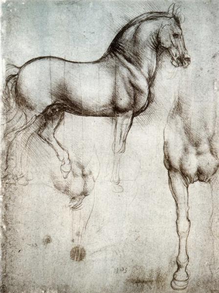 Study of Horses, Leonardo da Vinci (Wiki Commons)