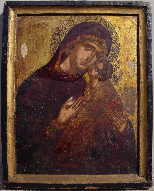 Icon with the Virgin and Child, c. 1500 by Cretan