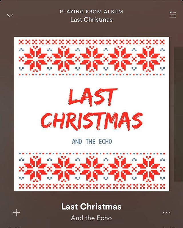 """New Spotify Release! Merry Christmas Everyone! Now you can stream our cover of Wham's """"Last Christmas."""" We hope it gets you in the Christmas Spirit! Link in Bio!! ❤️🎄💚🎁"""