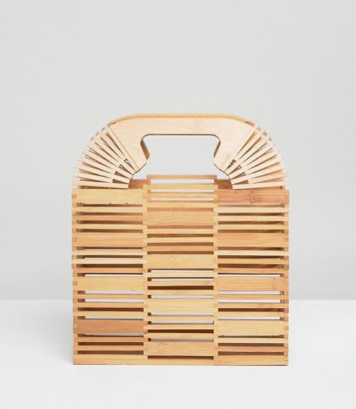 6.ASOS Design Bamboo Square Boxy Clutch - £35 (Image Asos)