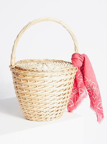 8.Straw Basket - Vintage Style - £58 (Image Free People)
