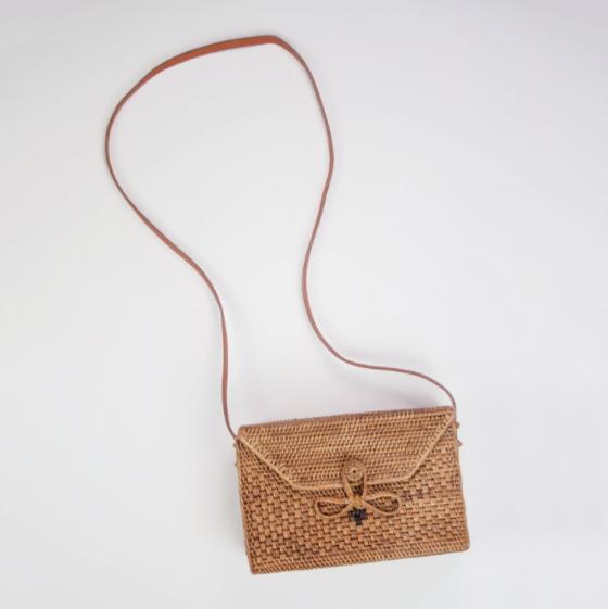 10. Farrah Woven Straw Envelope Bag - Basket detail - £74 (Image Rock N Rose)