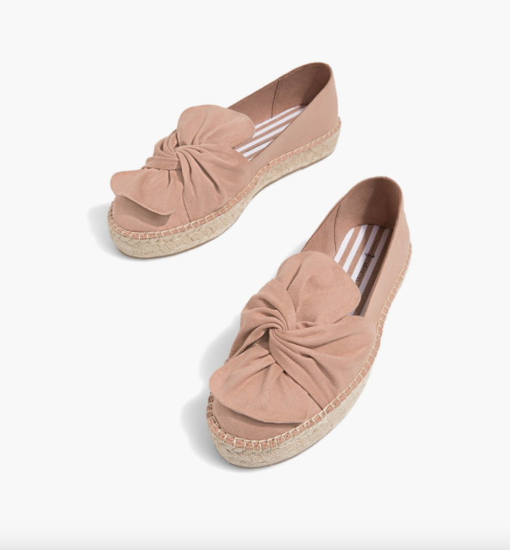 4. Espadrilles with bows - £25.99 (Image Stradivarious)