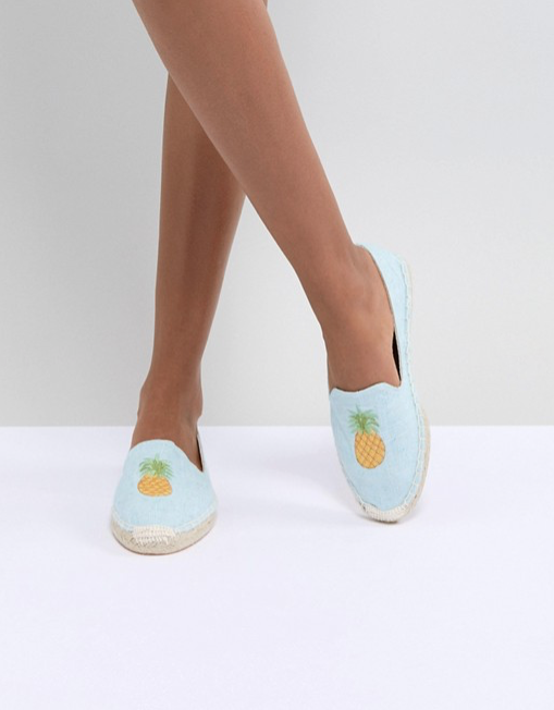 6.South Beach at ASOS Pineapple Embroidered Espadrilles - £18 (Image Asos)