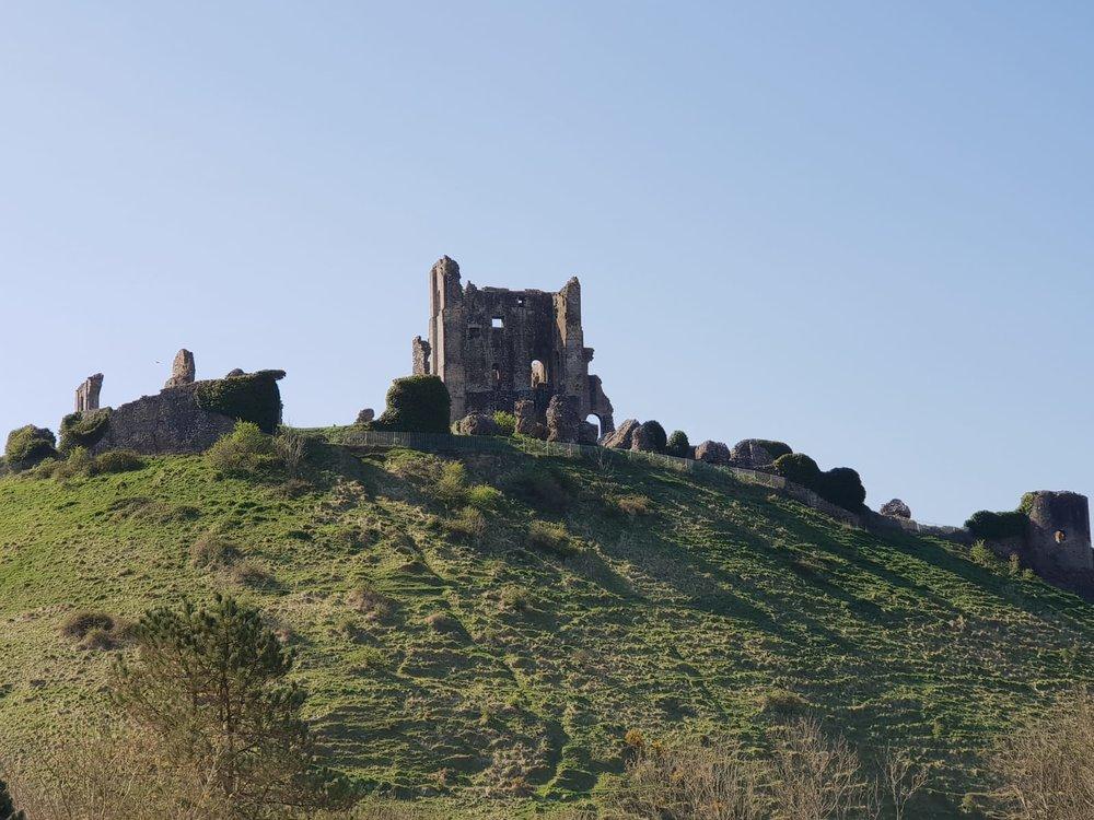 Visiting Corfe Castle, Wareham, Dorset.JPG