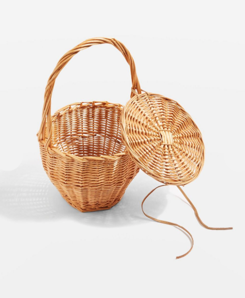 1. Shelly Straw Basket Bag - £10 (Sale)