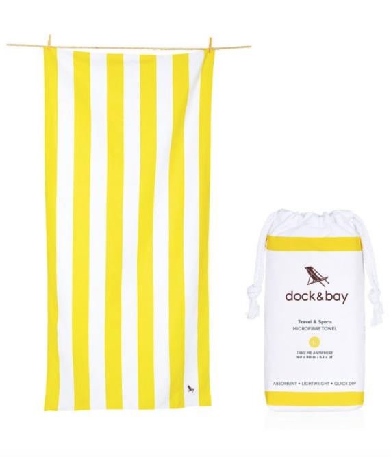 - Dock & Bay Cabana Beach & Travel Towel Boracay Yellow