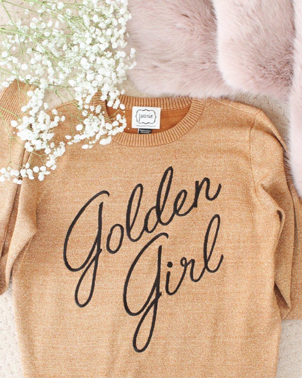 Joanie Clothing Vega Golden Girl Jumper.jpg