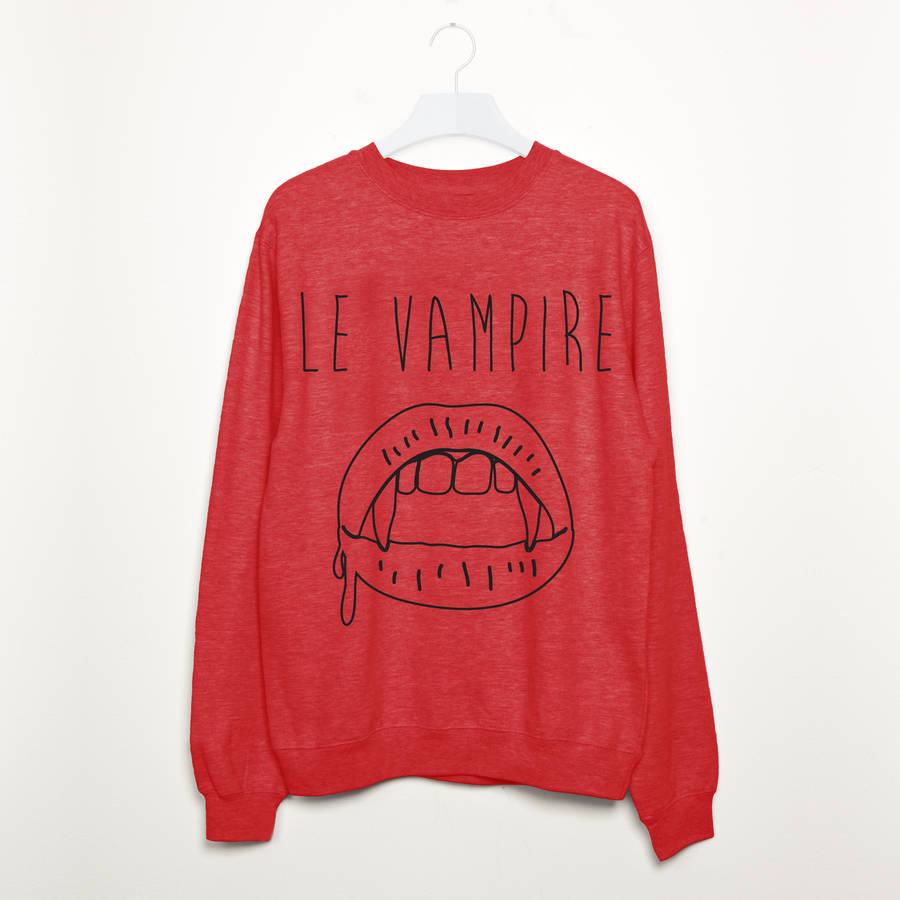 - Le Vampire Halloween Sweatshirt Batch1