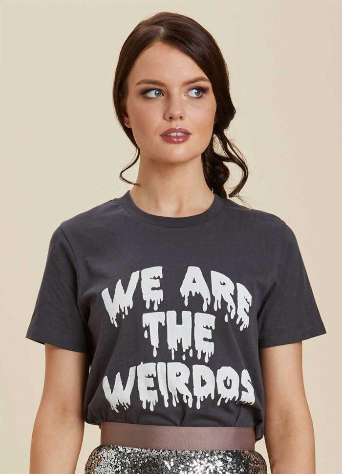 - Neve Weirdos Slogan Tee Joanie Clothing